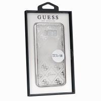 Guess 4G Transparent - Etui Samsung Galaxy S8 (srebrny)