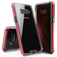 Zizo CLICK CASE Surge Series - Etui Samsung Galaxy S8 (czerwony/przezroczysty)