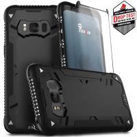 Zizo Proton Case - Pancerne etui Samsung Galaxy S8 ze szkłem 9H na ekran (czarny)
