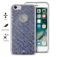 PURO Glitter Shine Leopard Cover - Etui iPhone 8 / 7 / 6s / 6 (Iridescent) Limited edition