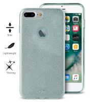 PURO Glitter Shine Cover - Etui iPhone 8 Plus / 7 Plus / 6s Plus / 6 Plus (Light Blue) Limited edition