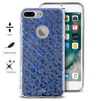 PURO Glitter Shine Leopard Cover - Etui iPhone 8 Plus / 7 Plus / 6s Plus / 6 Plus (Blue) Limited edition