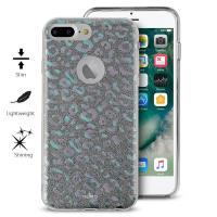 PURO Glitter Shine Leopard Cover - Etui iPhone 8 Plus / 7 Plus / 6s Plus / 6 Plus (Iridescent) Limited edition