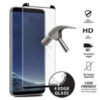 PURO Premium Full Edge Tempered Glass Case Friendly - Szkło ochronne hartowane na ekran Samsung Galaxy S8 (czarna ramka) - zastępuje SDGFSGALAXYS8TR