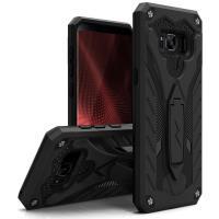 Zizo Static Cover - Pancerne etui Samsung Galaxy S8 z podstawką (Black)