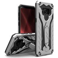 Zizo Static Cover - Pancerne etui Samsung Galaxy S8 z podstawką (Silver/Black)