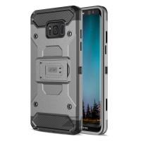 Zizo Armor Cover - Pancerne etui Samsung Galaxy S8 z podstawką i uchwytem do paska (Grey/Black)