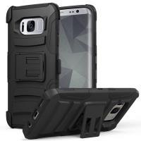Zizo Armor Hybrid Cover - Pancerne etui Samsung Galaxy S8+ z podstawką + uchwyt do paska (Black)