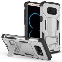 Zizo Hybrid Transformer Cover - Pancerne etui Samsung Galaxy S8+ z podstawką (Silver/Black)