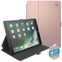 "Speck Balance Folio Metallic - Etui iPad 9.7"" (2017) / iPad Pro 9.7"" / iPad Air 2 / iPad Air w/Magnet & Stand up (Textured Rose Gold/Graphite Grey)"