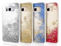 Guess Liquid Glitter - Etui Samsung Galaxy S8 (srebrny)