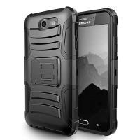 Zizo Armor Hybrid Cover - Pancerne etui Samsung Galaxy J3 Emerge / J3 Prime z podstawką + uchwyt do paska (Black)