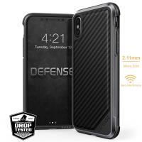 X-Doria Defense Lux - Etui iPhone X (Black Carbon Fiber)