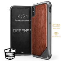 X-Doria Defense Lux Wood - Etui iPhone X z prawdziwym drewnem (Rosewood)