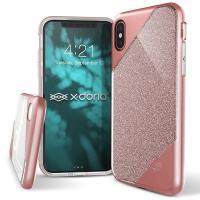 X-Doria Revel Lux - Etui iPhone X (Rose Gold Glitter)