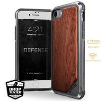 X-Doria Defense Lux Wood - Etui iPhone 8 / 7 z prawdziwym drewnem (Rosewood)
