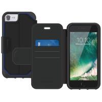 Griffin Survivor Strong Wallet - Etui iPhone X z kieszeniami na karty (czarny/szary)