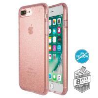 Speck Presidio Clear with Glitter - Etui iPhone 8 Plus / 7 Plus / 6s Plus / 6 Plus (Gold Glitter/Bella Pink)