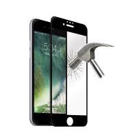 PURO Premium Full Edge Tempered Glass - Szkło ochronne hartowane na ekran iPhone 8 / 7 / 6s / 6 (czarna ramka)