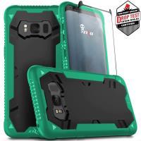 Zizo Proton Case - Pancerne etui Samsung Galaxy S8 ze szkłem 9H na ekran (zielony/czarny)