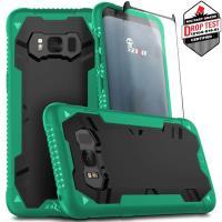 Zizo Proton Case - Pancerne etui Samsung Galaxy S8+ ze szkłem 9H na ekran (zielony/czarny)
