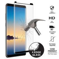 PURO Premium Full Edge Tempered Glass Case Friendly - Szkło ochronne hartowane na ekran Samsung Galaxy Note 8 (2017) (czarna ramka)