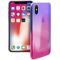 PURO Hologram Cover - Etui iPhone X (Pink)