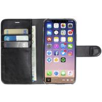 Krusell Ekerö FolioWallet 2in1 - Etui 2w1 iPhone X z kieszeniami na karty + stand up (Black)