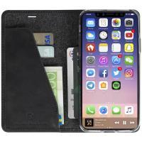Krusell Sunne 4 Card FolioWallet - Skórzane etui iPhone X z kieszeniami na karty + stand up (Black)