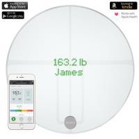 QardioBase 2 Smart Scale - Waga diagnostyczna z trybem ciążowym dla iOS / Android / Kindle / Apple Health (Arctic White)