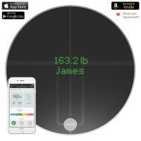 QardioBase 2 Smart Scale - Waga diagnostyczna z trybem ciążowym dla iOS / Android / Kindle / Apple Health (Volcanic Black)