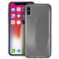 PURO 0.3 Nude - Etui iPhone X (czarny przezroczysty)