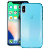 PURO 0.3 Nude - Etui iPhone X (Fluo Blue)