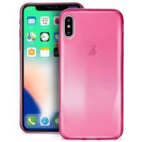 PURO 0.3 Nude - Etui iPhone X (Fluo Pink)