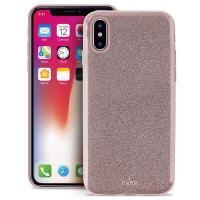 PURO Glitter Shine Cover - Etui iPhone X (Rose Gold)