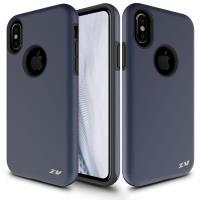 Zizo Sleek Hybrid Cover - Etui iPhone X (Dark Blue)