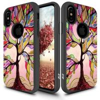 Zizo Sleek Hybrid Design Cover - Etui iPhone X (Colorful Tree)