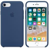 Apple Silicone Case - Silikonowe etui iPhone 8 / 7 (kobaltowy)