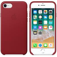 Apple Leather Case - Skórzane etui iPhone 8 / 7 (czerwony) (PRODUCT)RED