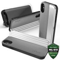 Zizo Retro Series - Etui iPhone X z kieszeniami na karty + podstawka (Gray/Silver)