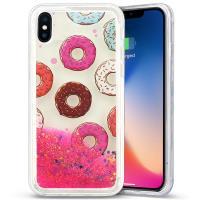 Zizo Liquid Glitter Star Case - Etui iPhone X (Donuts)