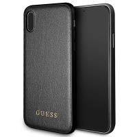 Guess Iridescent - Etui iPhone X (czarny)