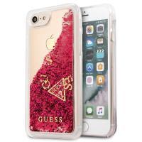 Guess Liquid Glitter - Etui iPhone 8 / 7 (malinowy)