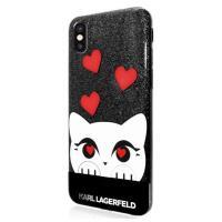 Karl Lagerfeld Choupette Valentine - Etui iPhone X (Black)