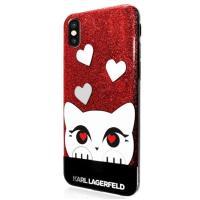 Karl Lagerfeld Choupette Valentine - Etui iPhone X (Red)