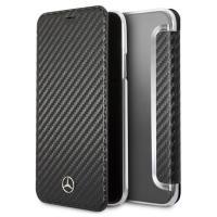 Mercedes Dynamic Line Book - Etui iPhone 8 / 7 z kieszeniami na karty (czarny)