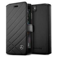 Mercedes Pattern II - Skórzane etui iPhone 8 / 7 z kieszeniami na karty (czarny)