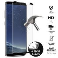 PURO Premium Full Edge Tempered Glass Case Friendly - Szkło ochronne hartowane na ekran Samsung Galaxy S8+ (czarna ramka)