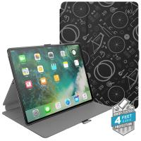 "Speck Balance Folio Print - Etui iPad 9.7"" (2018/2017) / iPad Pro 9.7"" / iPad Air 2 / iPad Air w/Magnet & Stand up (Bikeparts Black/Ash Grey)"
