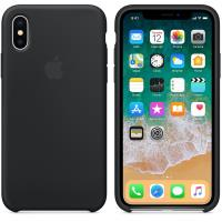 Apple Silicone Case - Silikonowe etui iPhone X (czarny)